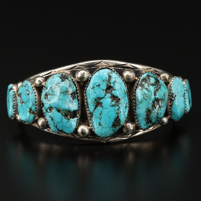Laura J Dabbs and Sons Navajo Diné Turquoise Cuff Bracelet