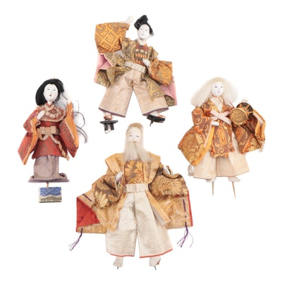 East Asian Papier-mâché and Porcelain Dolls, Early to Mid 20th Century