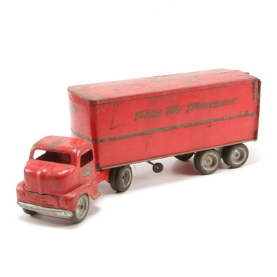 "Tonka ""Transport"" Diecast Truck and Trailer"