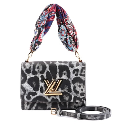 Louis Vuitton Twist MM Shoulder Bag in Wild Animal Print Leather