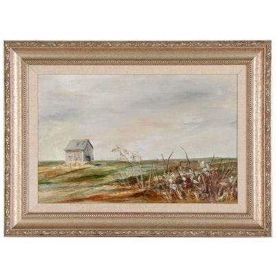 Prairie Landscape Oil Painting