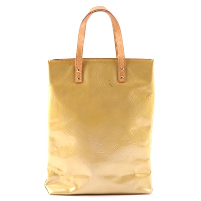 Louis Vuitton North South Catalina Tote in Monogram Vernis and Vachetta Leather