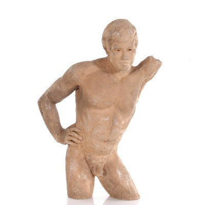 John Tuska Male Nude Ceramic Sculpture