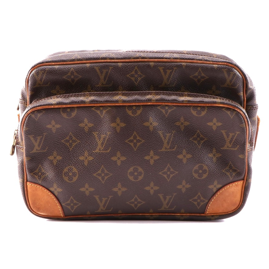 Louis Vuitton Nile Bag in Monogram Canvas and Vachetta Leather