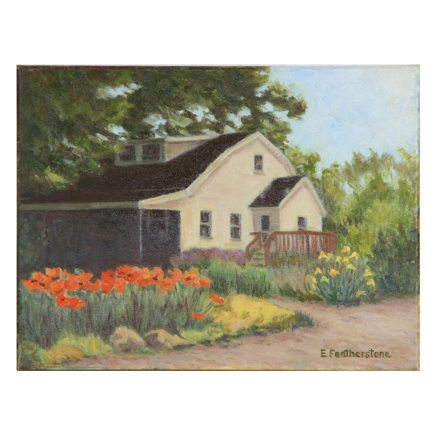 Emily Featherstone Oil Painting of Country House