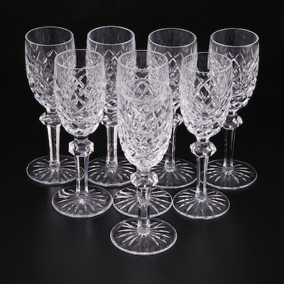 "Waterford Crystal ""Powerscourt"" Sherry Glasses, Mid to Late 20th Century"