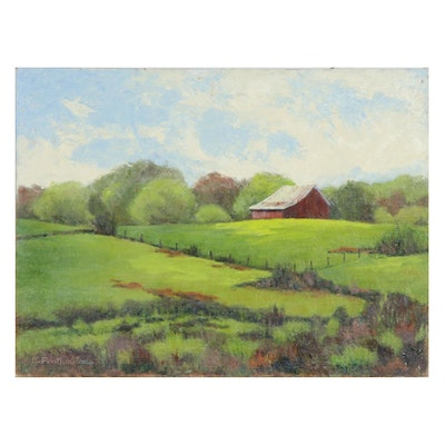 Emily Featherstone Pastoral Landscape Oil Painting
