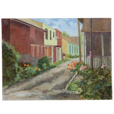 Emily Featherstone Oil Painting of an Alley
