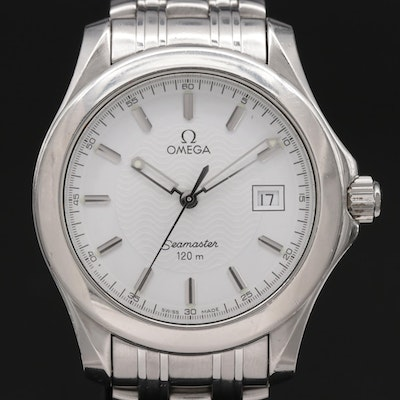 Omega Seamaster 120 Stainless Steel Quartz Wristwatch