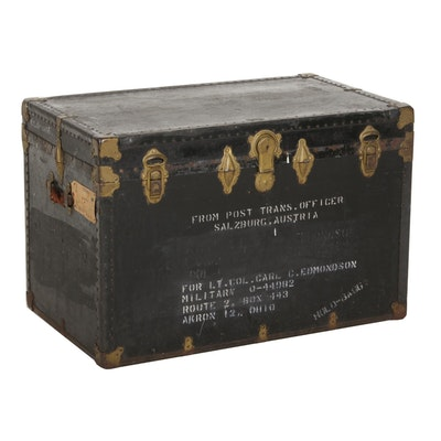 Military Steamer Trunk, Mid-20th Century
