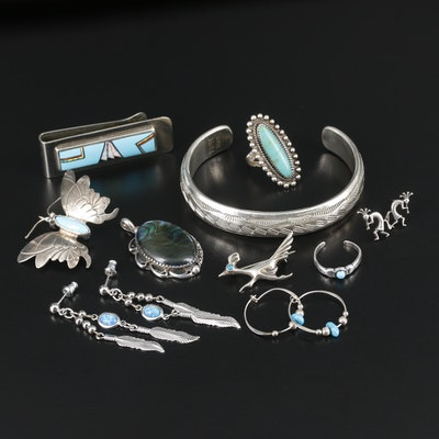 Sterling Silver Jewelry Featuring Jane Popovitch and TAHE Navajo Diné