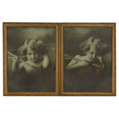 "M.B. Parkinson Half-Tone Prints ""Cupid Awake"" and ""Cupid Asleep"", c. 1900"
