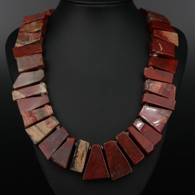 Beaded Jasper Necklace