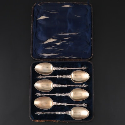 Martin, Hall & Co. Sterling and Gold Wash Apostle Spoons, 1863