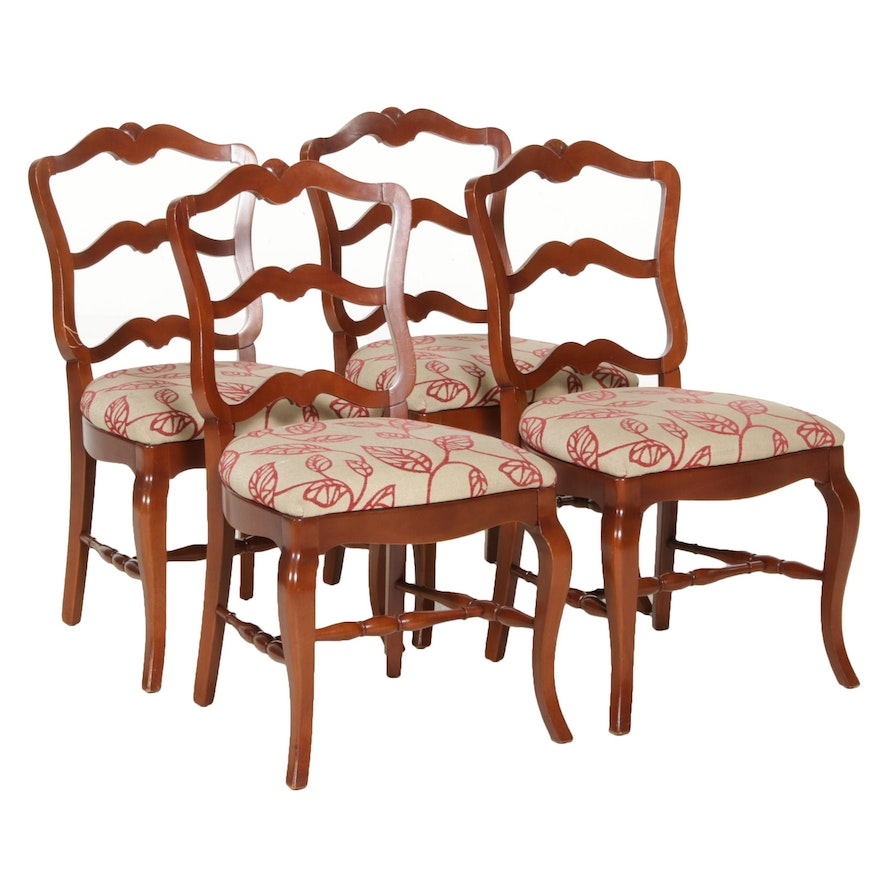French Provincial Style Upholstered Side Chairs