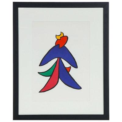 """Alexander Calder Color Lithograph for """"Derrière le Miroir"""", 1963"""