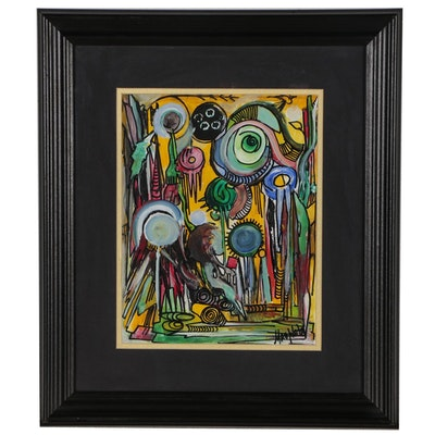 Masplata Abstract Mixed Media Painting