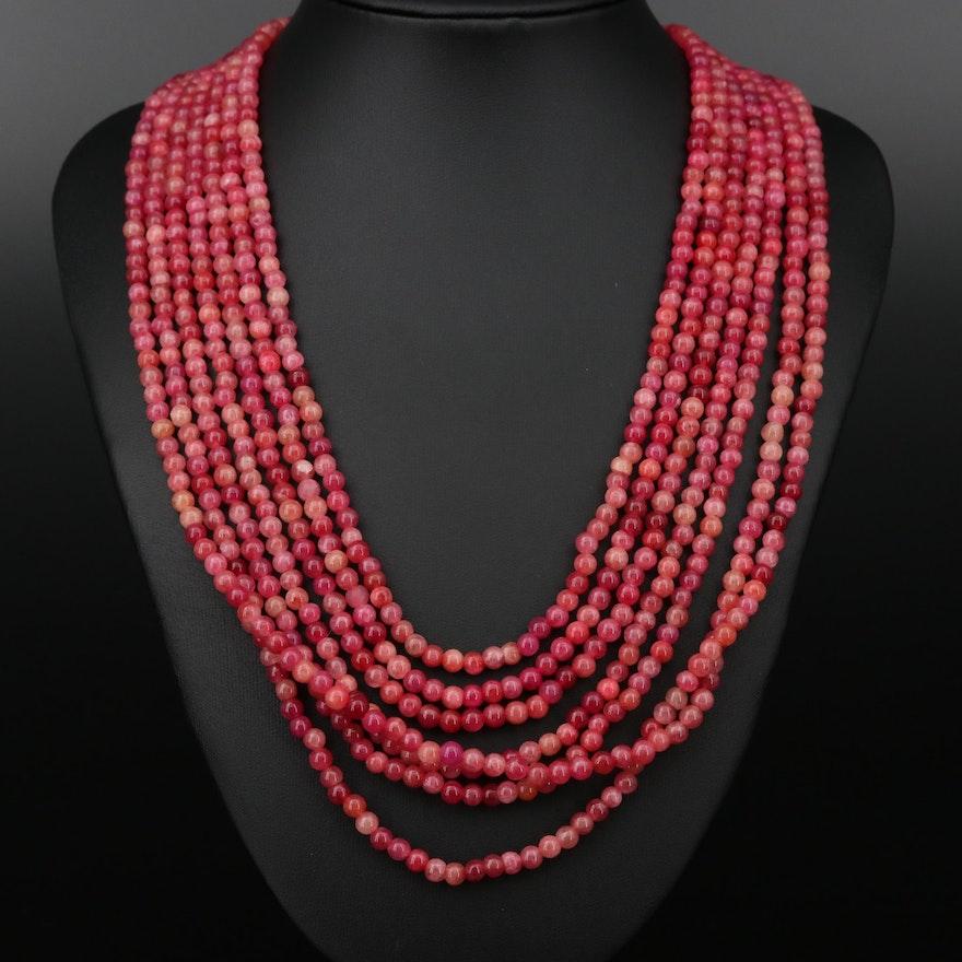 Multi-Strand Quartz Beaded Necklace