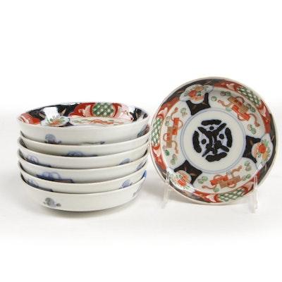 Japanese Imari Hand-Painted Porcelain Bowls