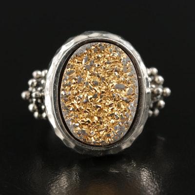 Michael Dawkins Sterling Silver Druzy Ring