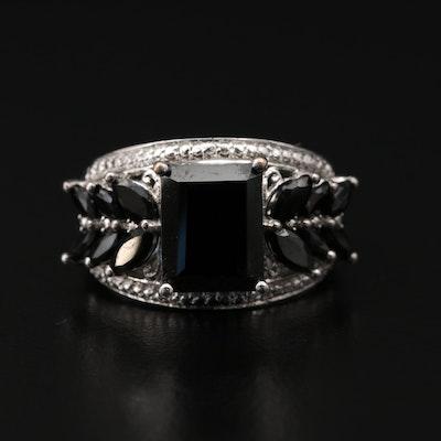 Black Onyx Openwork Ring