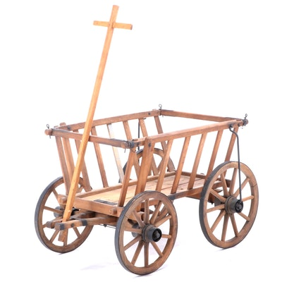 Wooden Goat Cart, Early 20th Century