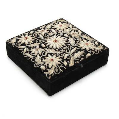 Zardozi Embroidered Jewelry Box