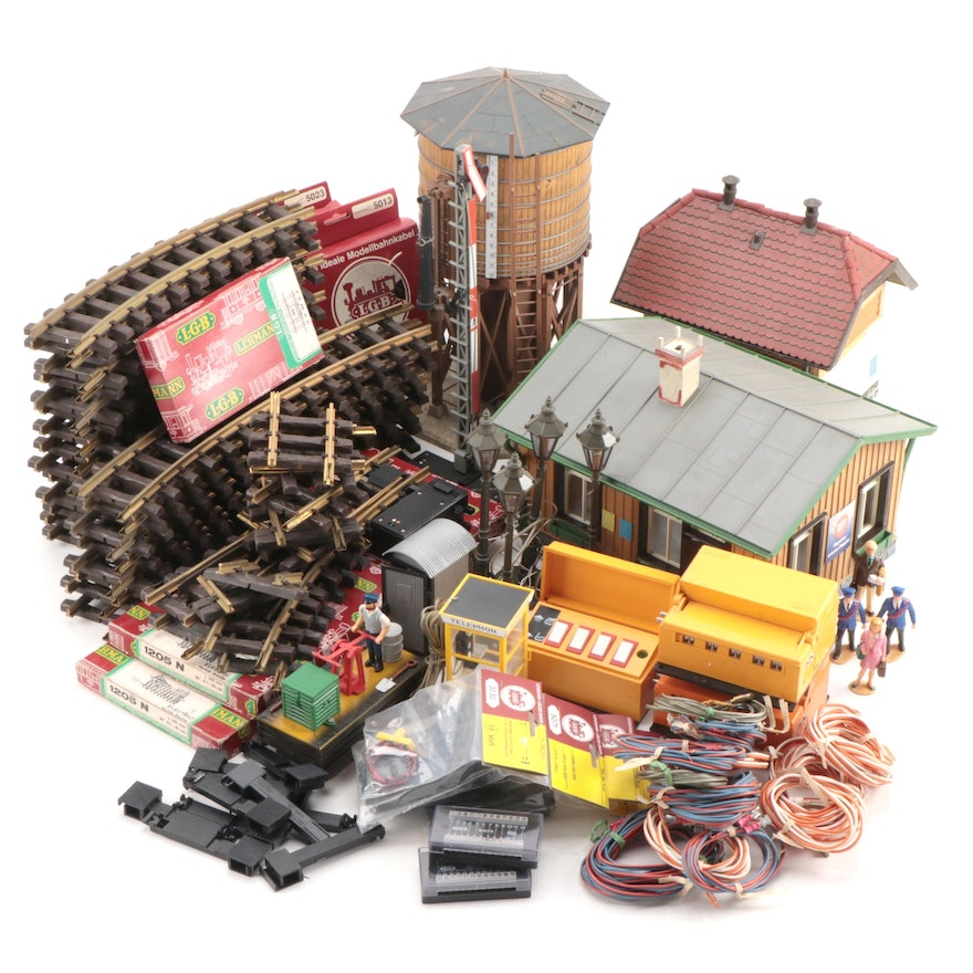 Lehmann LGB Model Train Car, Accessories, Structures, and Track