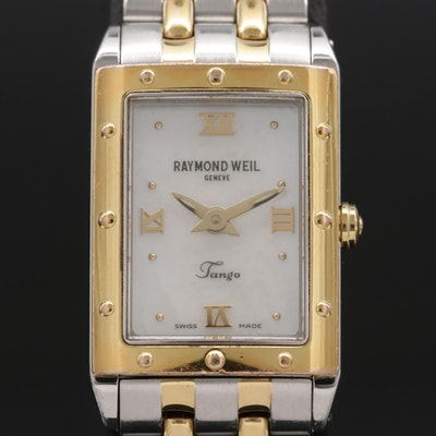 Raymond Weil Tango Two Tone Quartz Wristwatch with Mother of Pearl Dial