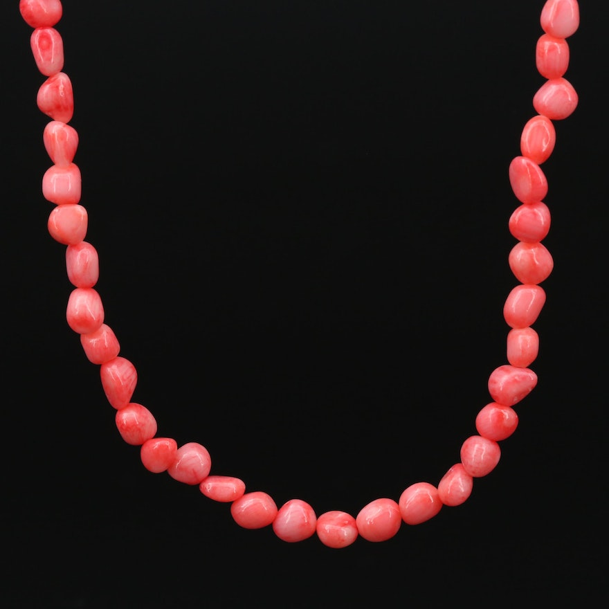 14K Gold Coral Necklace
