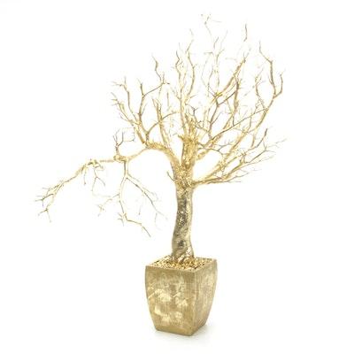 Frontgate Potted Gilt Pacific Coast Manzanita Tree