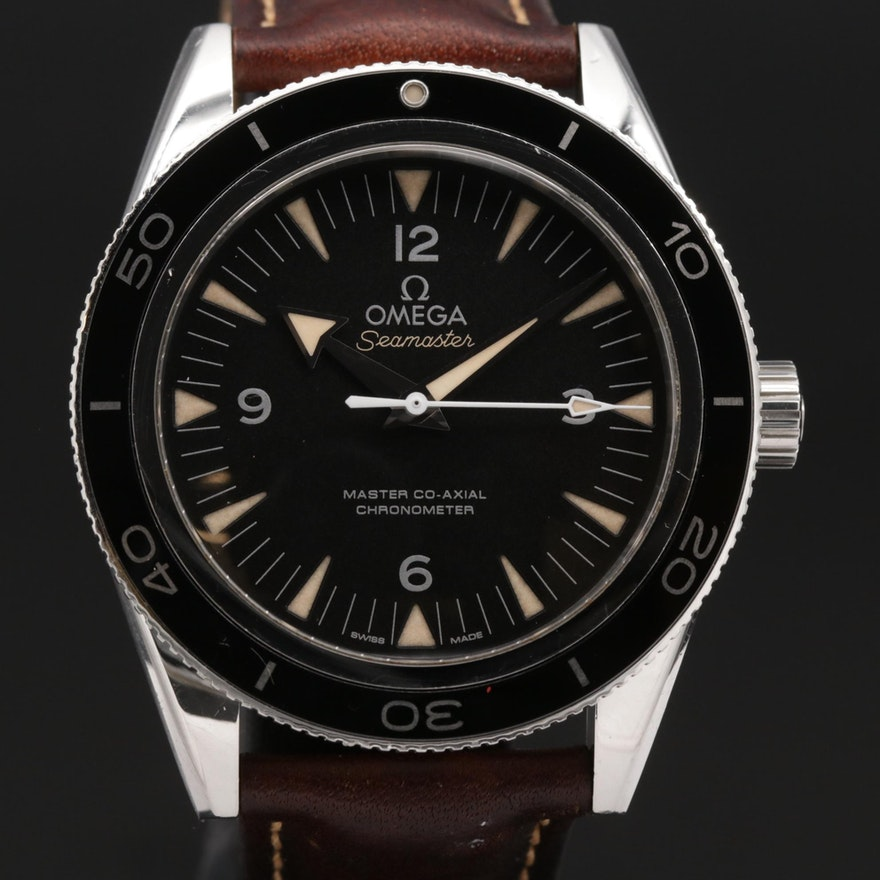 Omega Seamaster 300 Master Co-Axial Stainless Steel Automatic Wristwatch
