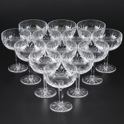 "Lenox ""Monticello"" Crystal Champagne Coupes, 1980s"