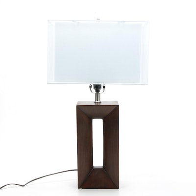 Contemporary Rectangular Lamp and Shade