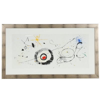 "Joan Miró Triple-Page Color Lithograph for ""Derrière le Miroir"", 1963"