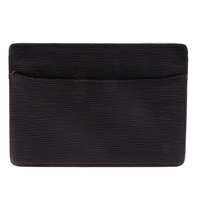 Louis Vuitton Pochette Homme Clutch in Black Epi Leather