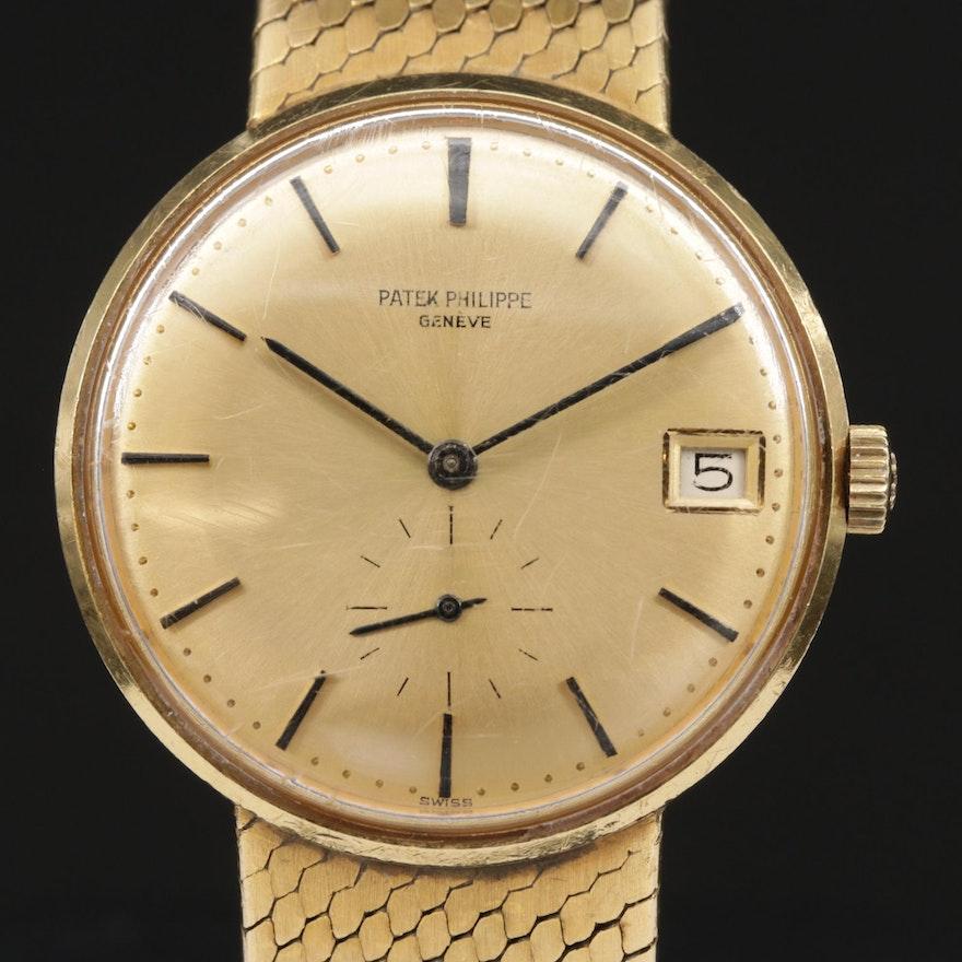 Vintage Patek Philippe Calatrava 18K Gold Automatic Wristwatch