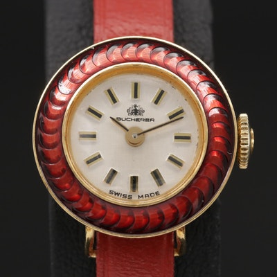 Swiss Bucherer Wristwatch With Suite of Multiple Bezel Covers and Bands