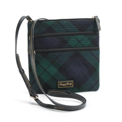 Dooney & Bourke Tartan Plaid Zippered Crossbody Bag
