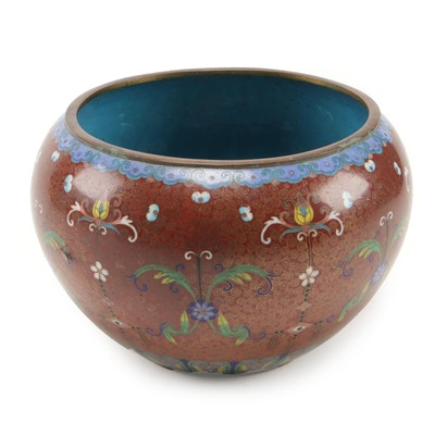 East Asian Cloisonné Planter, 20th Century
