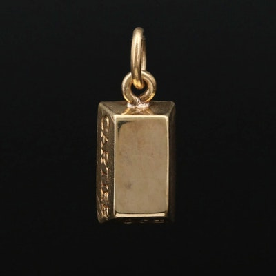 Cartier 18K Yellow Gold Ingot Pendant with Pouch