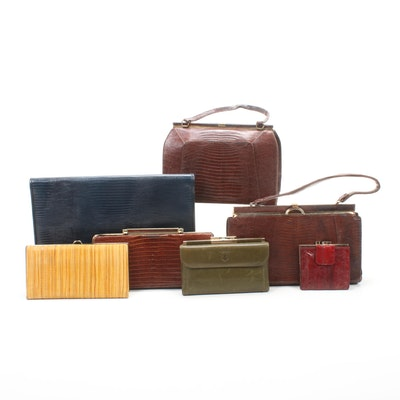 Bellstone, Lesco, and Other Lizard and Eel Skin Handbags and Wallets, Vintage