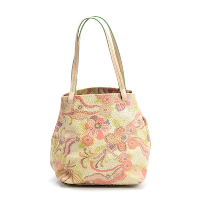 Cristian Bohemian Floral Embossed Leather Shoulder Bag