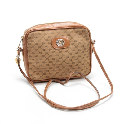 Gucci Micro GG Canvas Crossbody Bag, Vintage