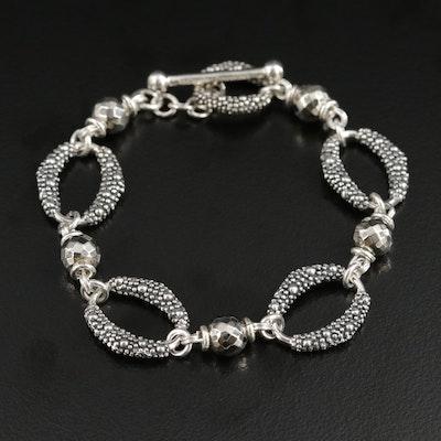 Michael Dawkins Sterling Silver Link Bracelet