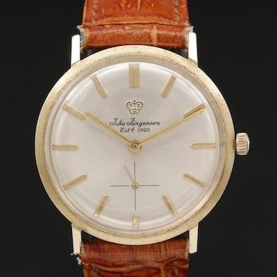 Vintage Jules Jürgensen 14K Gold Stem Wind Wristwatch