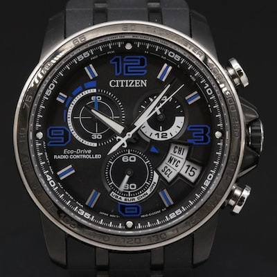 Citzen Eco-Drive Chrono Time A-T Limited Edition Rechargeable Quartz Wristwatch