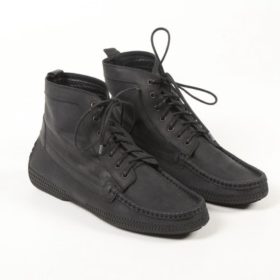 Men's Cole Haan Black Leather Lace-Up High Tops