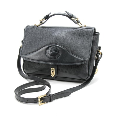 Dooney & Bourke Black All-Weather Pebbled Leather Crossbody Handbag