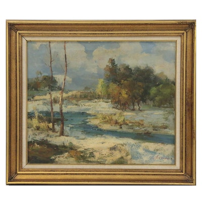 Impressionistic Landscape Oil Painting